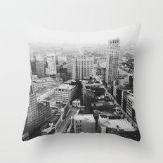 33rd Floor - Detroit, MI Throw Pillow