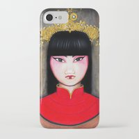 asia iPhone & iPod Cases featuring Asia by Melanie Arias