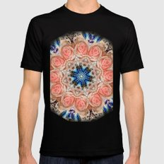 Roses in abstact Mens Fitted Tee MEDIUM Black