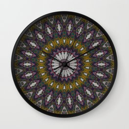 Look Into My Eyes - Abstract Kaleidoscope Art by Fluid Nature Wall Clock