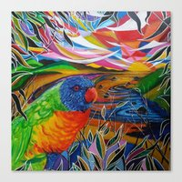 paradise Canvas Prints featuring Paradise by shannon's art space