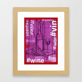 Hashtag Wine Framed Art Print