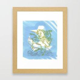 Unicorn Fucking a Dolphin Framed Art Print