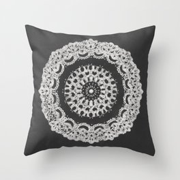 Grandma's Doily I Throw Pillow