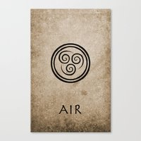 the last airbender Canvas Prints featuring Avatar Last Airbender - Air by bdubzgear