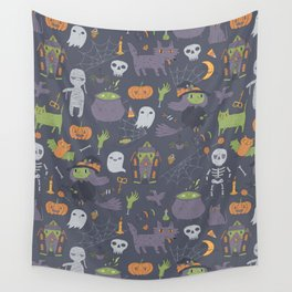 Cute Happy Halloween Wall Tapestry