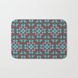 Abstract flower pattern 6b Bath Mat