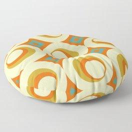 Mid-Century Modern Orange Floor Pillow