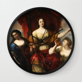 Prudence, Justice, and Peace by Jürgen Ovens, 1662 Wall Clock