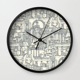 Ancient Greece indigo pearl Wall Clock