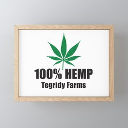 100% Hemp From Tegridy Farms Framed Mini Art Print