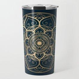 Mandala Night Blue Travel Mug