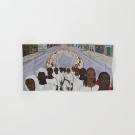African American Masterpiece, The Great Migration: People of the African Dispora by Helina Metaferia Hand & Bath Towel