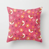 Rockin Robin's Throw Pillow