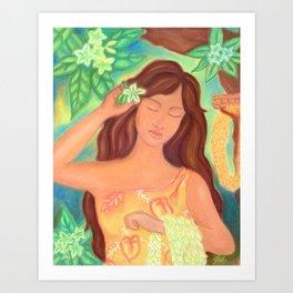 Leis For Sale, Hawaiiana Art Print