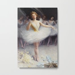 Ballerinas After the Performance Metal Print