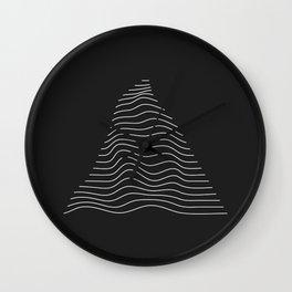 Minimal Triangle Warp Wall Clock
