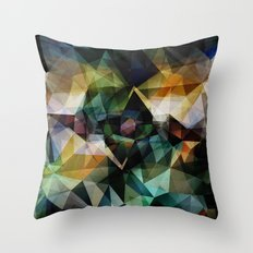 Colorful Geometric Abstract Throw Pillow