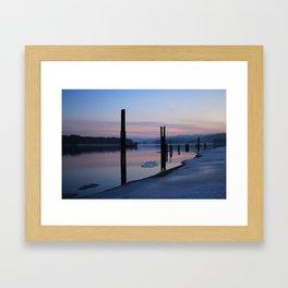 Sunset on the ice Framed Art Print