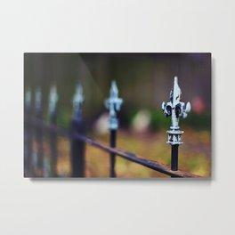 St. Louis Fleur de Lis Fence Metal Print