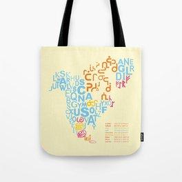 North America ~ Writing Sistems Tote Bag