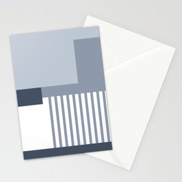Sol Abstract Geometric Print in Blue Stationery Cards