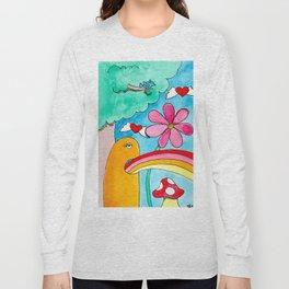 Rainbow Puke Long Sleeve T-shirt