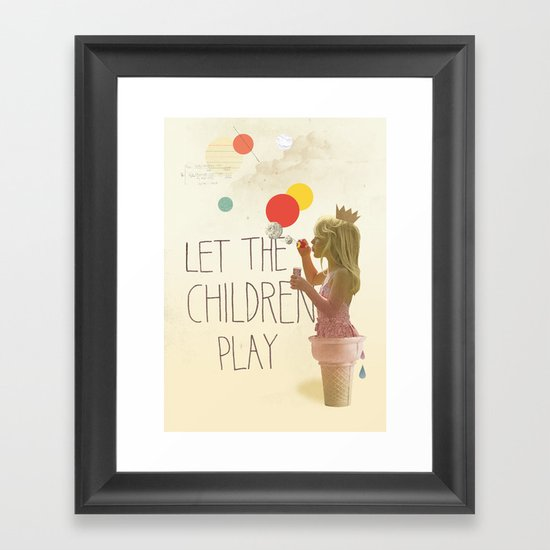 Let the children play Framed Art Print