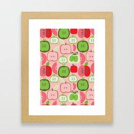 Retro Apples Framed Art Print