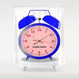 Oval Alarm Clock Shower Curtain