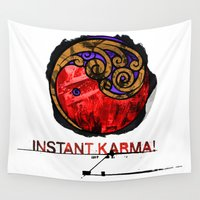 karma Wall Tapestries featuring Instant Karma by Genco Demirer