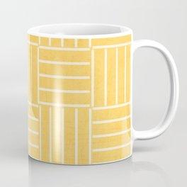 square lines - yellow Coffee Mug