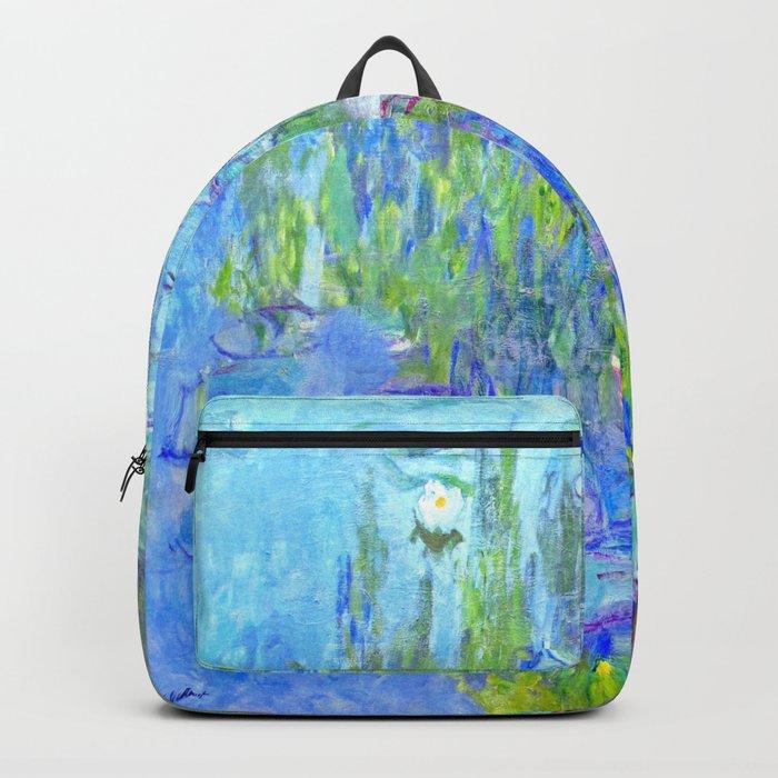 Water Lilies monet : Nympheas Backpack