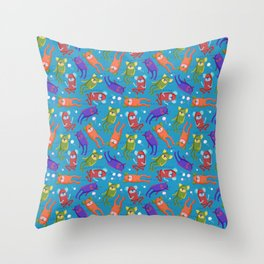 Shamans in the Sea Throw Pillow