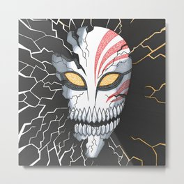 Bleach Hollow Mask Metal Print