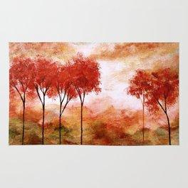 Burning Promise, Abstract Landscape Art Rug