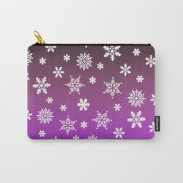 Snow Flurries-Purple/Black Ombre Carry-All Pouch