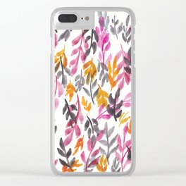 180726 Abstract Leaves Botanical 15 Botanical Illustrations Clear iPhone Case