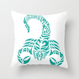 scorpion zodiac bangkok style Throw Pillow