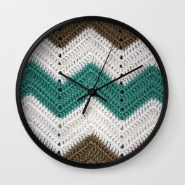 Diagonal Crochet Throw Wall Clock
