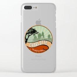 Charleston City Skyline T-Shirt Retro Vintage 80s Clear iPhone Case