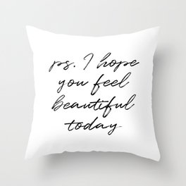 Beauty Quote Throw Pillow