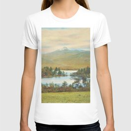 Hand Colored Photograph of Mt. Chocoura, New Hampshire 1920 Charles Henry Sawyer T-shirt