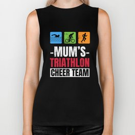 Mums Triathlon Supporters Family Cheer  Biker Tank