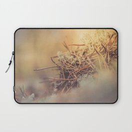 White reindeer moss photo Laptop Sleeve