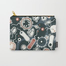 Eukaryotes (dark blue, white and orange) Carry-All Pouch