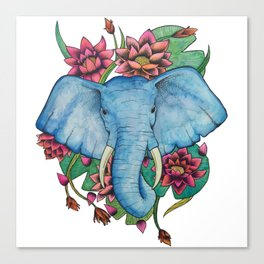 Lily Tusks Canvas Print