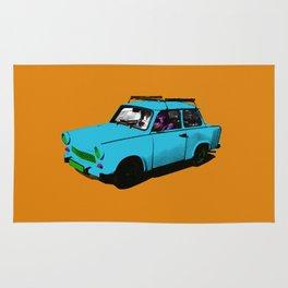 Trabant blue pop Rug