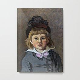 Portrait of his son Jean Monet in a pompom bonnet Metal Print