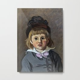 Portrait of his son Jean Monet in a pompom bonnet Metal Print